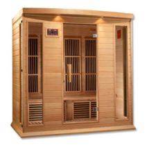 Maxxus 4 Person Low EMF FAR Infrared Hemlock Sauna