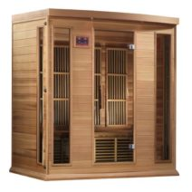 Maxxus 4 Person Low EMF FAR Infrared Red Cedar Sauna