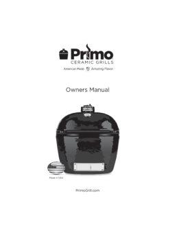 Primo Oval Junior Ceramic Kamado Grill Manual