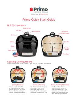 Primo Oval Junior Ceramic Kamado Grill Quick Start Guide