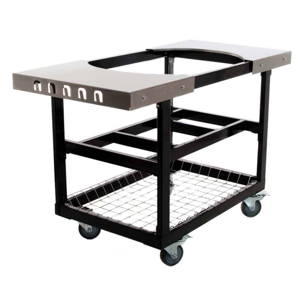 Primo Steel Cart With Stainless Steel Side Tables For Oval