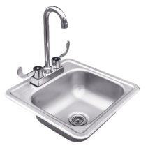 Summerset 15 Stainless Steel Drop-In Sink with Faucet