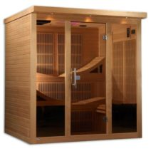Monaco 6 Person Corner Near Zero EMF Far Infrared Sauna