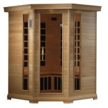Monte Carlo 4-5 Person Corner Near Zero EMF Far Infrared Sauna