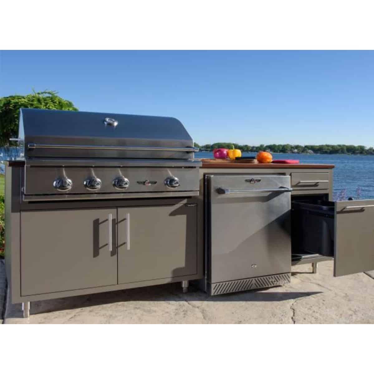 Challenger Designs 73 5 Coastal Built In Grill Outdoor Kitchen Island