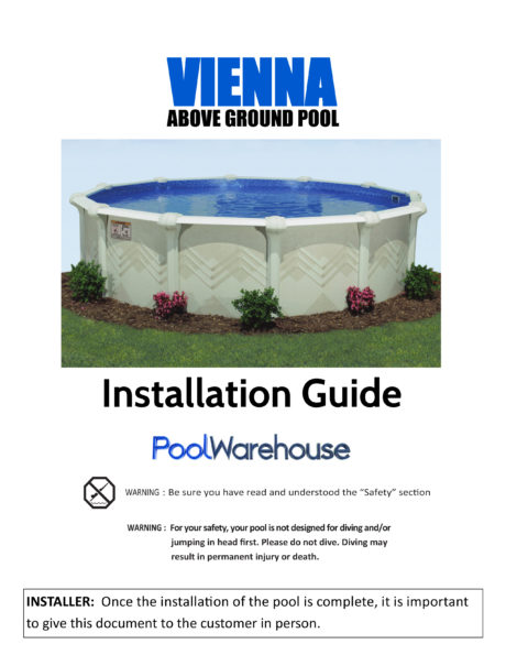 Vienna Oval Above Ground Pool Installation Guide