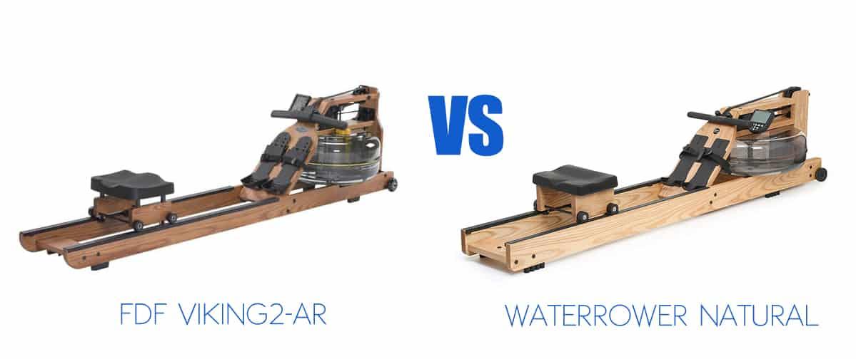 FDF Viking2-AR v WaterRower Natural - Pool Warehouse