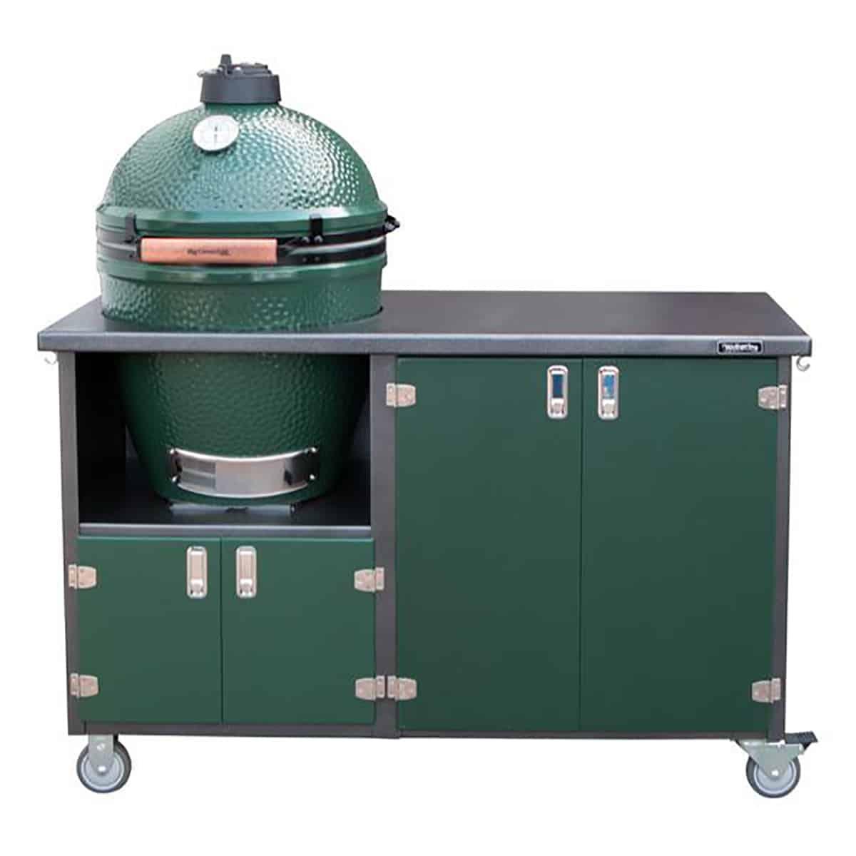 4 Door Deluxe Xl Big Green Egg Grill Cart