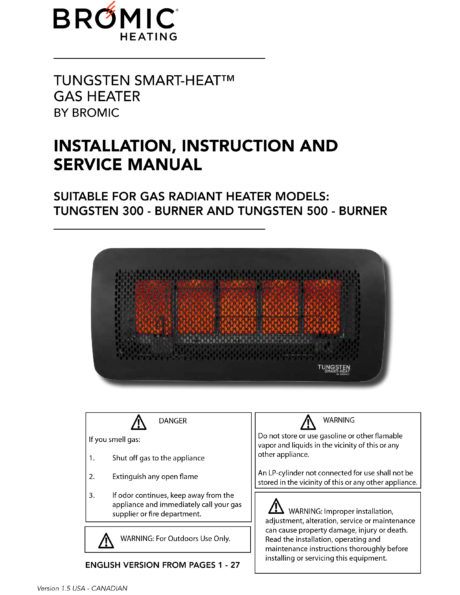 Bromic Tungsten Smart Gas 300 Radiant Heat Patio Heater
