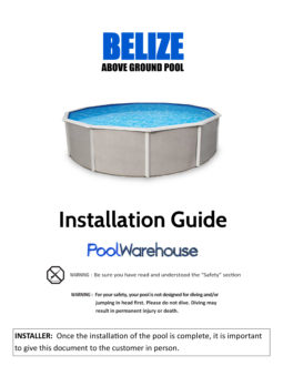 Belize Round Above Ground Pool Installation Guide