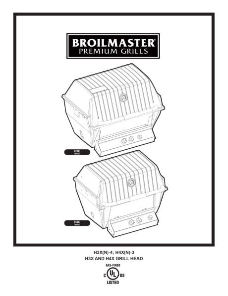 Broilmaster H3 Series Gas Grill Manual