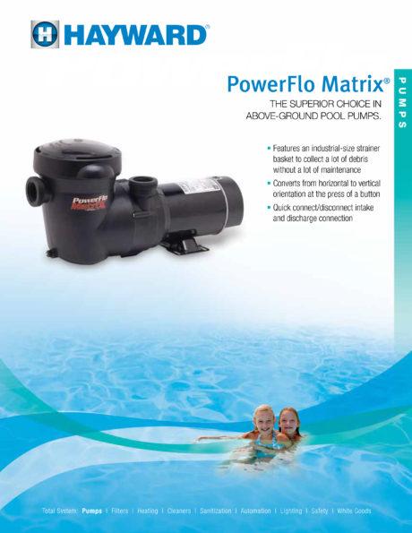 Hayward PowerFlo Matrix Pool Pump Brochure
