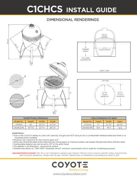 Coyote Asado Ceramic Grill Install Guide