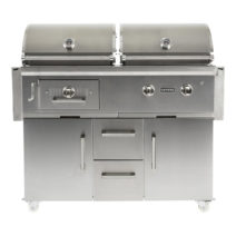 Coyote Centaur 50-Inch Freestanding Gas/Charcoal Dual Fuel Grill