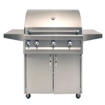 Artisan Professional 36-Inch 3-Burner Freestanding Gas Grill with Rotisserie