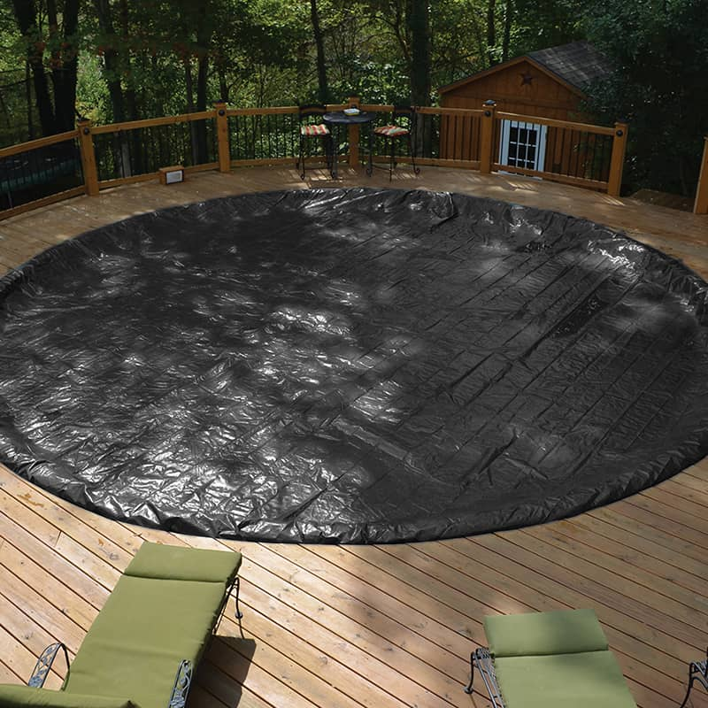 12 X 21 Oval Gli Aquacover Winter, Above Ground Pool Cover With Deck