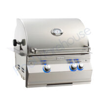 Fire Magic Aurora A430i 24 in Built-In Grill with Backburner & Rotisserie Kit