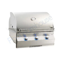 Fire Magic Aurora A660i 30 in Built-In Grill with Backburner & Rotisserie Kit