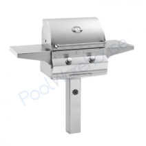 Fire Magic Aurora E430s 24 In-Ground Post Grill with Rotisserie
