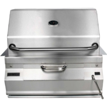 Fire Magic Legacy Charcoal 24 in Built-In Grill with Smoker Oven-Hood