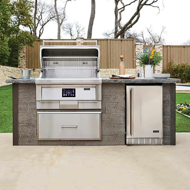 8 Ft Grill Island For Coyote 36 Inch Pellet Grill Pool Warehouse